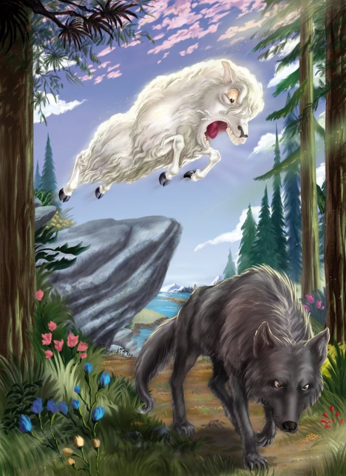 Sheep Attacking Wolf