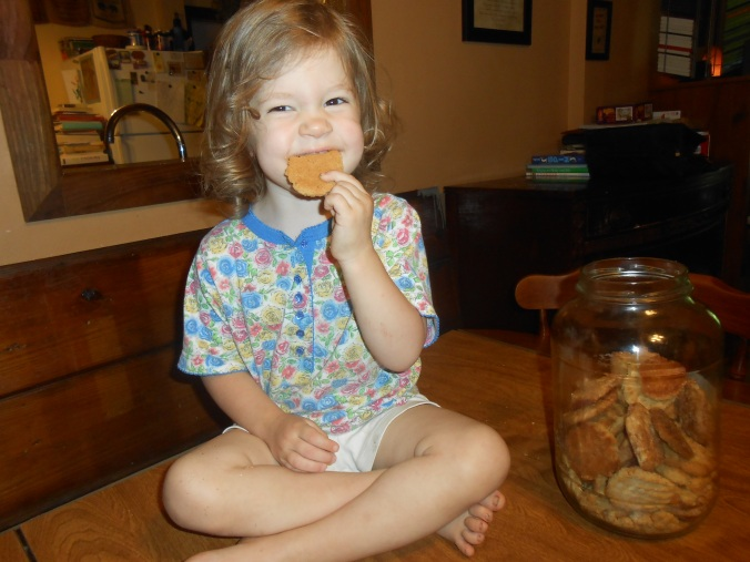 Charity celebrated her 3rd birthday on June 27th...here she is pictured eating cookies that grandma brought for everyone :-)