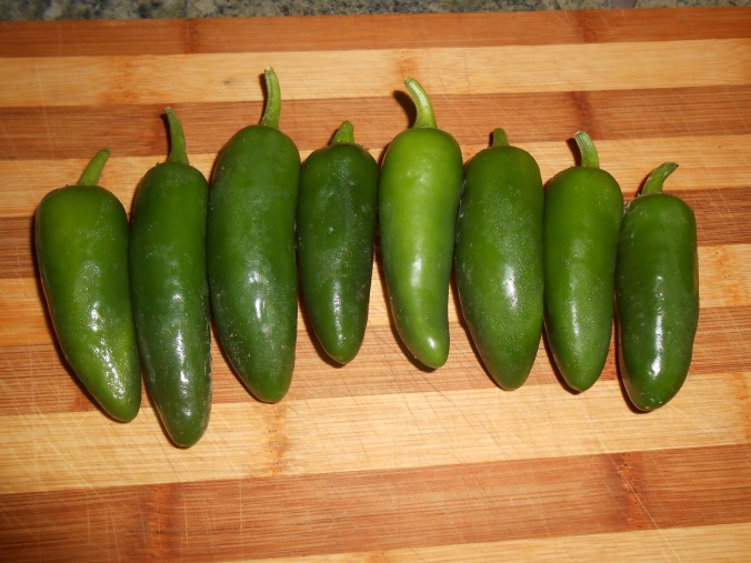 pick your jalapenos from the garden