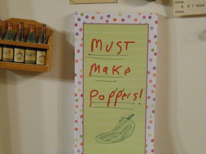 Note that Nathan left on the fridge to remind me