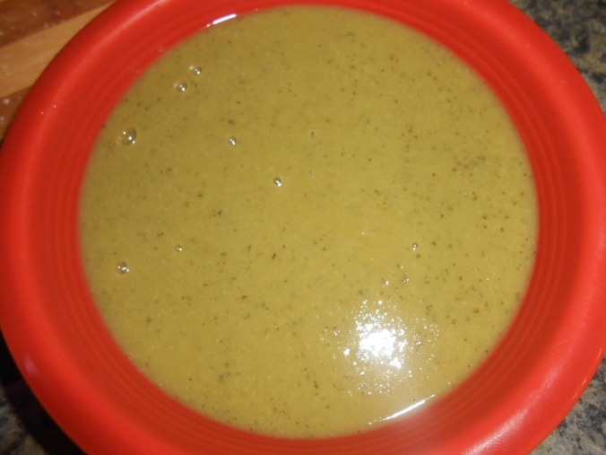 the finished pea soup