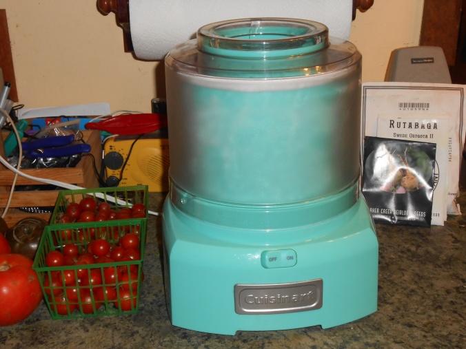 my ice cream maker, birthday gift from last year